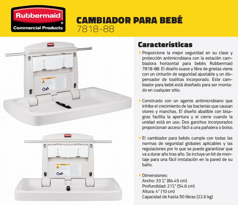 Cambiador de pa al para bebe rubbermaid fg781888 nuevo 100 - Mesa cambiador para bebe ...